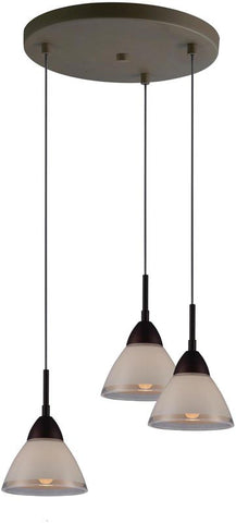 Woodbridge Lighting 13244MEB-C60601 Lucia 3-light cluster - PeazzLighting