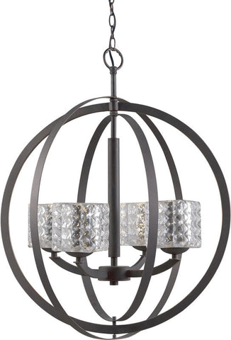 Woodbridge Lighting 14320MEB Mirage 4-light Pendant Chandelier - PeazzLighting