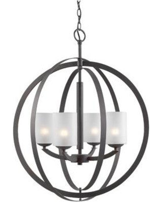 Woodbridge Lighting 14320STN Mirage 4-light Pendant Chandelier - PeazzLighting