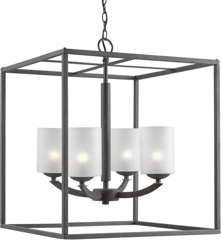 Woodbridge Lighting 14324MEB Mirage 4-light Pendant Chandelier - PeazzLighting