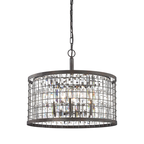ELK Lighting 14344/6 Nadina Collection Silverdust Iron Finish - PeazzLighting