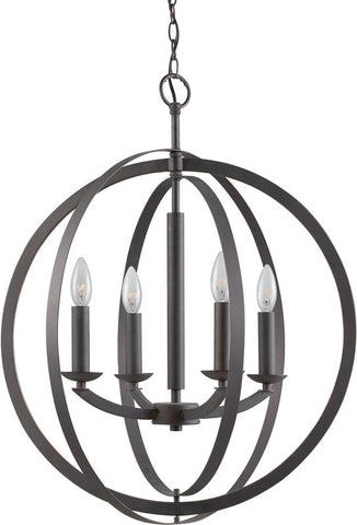 Woodbridge Lighting 14420MEB Lola 4-light Pendant Chandelier - PeazzLighting