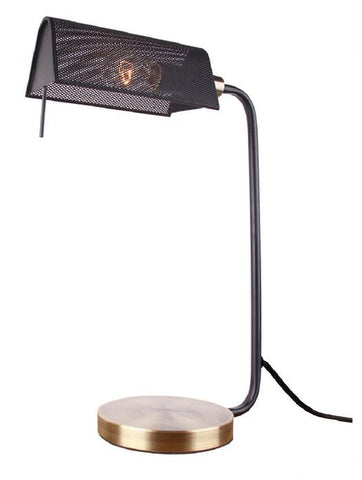 Woodbridge Lighting 15481BRB Randall 1-light Table Lamp Brushed Brass + Bronze - Peazz.com