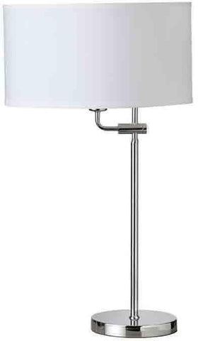 Dainolite 155T-PC Adjustable Table Lamp,White Shade