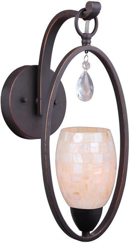 Woodbridge Lighting 15741MEB-C20407 Olivia Pearl Wall Sconce