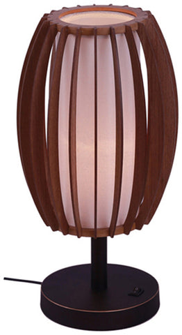 Woodbridge Lighting 16081MEB Fins Wood 1-light Table Lamp - PeazzLighting