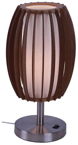 Woodbridge Lighting 16081STN Fins Wood 1-light Table Lamp - PeazzLighting