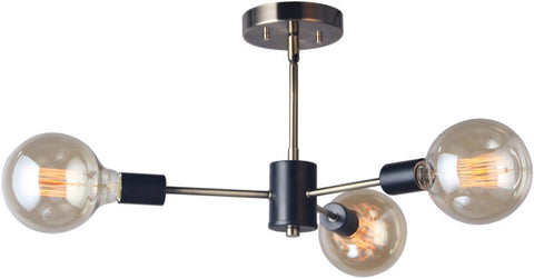 Woodbridge Lighting 16113STB-G125 Ethan 3-light Pendant/Semi-flush Convertible - PeazzLighting