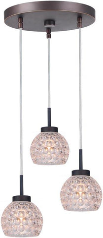 Woodbridge Lighting 16324MEB-C00510 Charlotte 3-Light Cluster Pendant