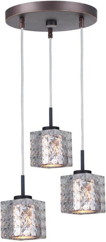 Woodbridge Lighting 16324MEB-C80414 Charlotte 3-Light Cluster Pendant