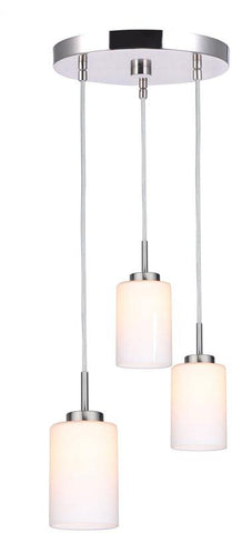 Woodbridge Lighting 16324STN-C10455 Charlotte 3-Light Cluster Pendant