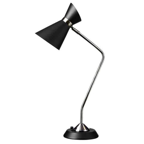 Dainolite 1679T-BK-PC 1LT Table Lamp w/ Black Shade, PC