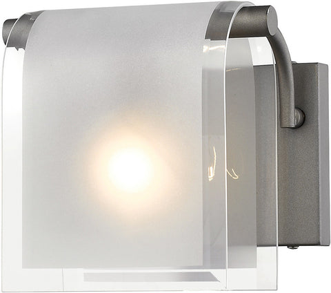 Z-Lite 169-1S-FB 1 Light Wall Sconce Zephyr Collection Clear Beveled+Frosted Finish - ZLiteStore