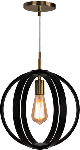 Woodbridge Lighting 16923BRB Celestial 1-light Wood Mid-Pendant - PeazzLighting