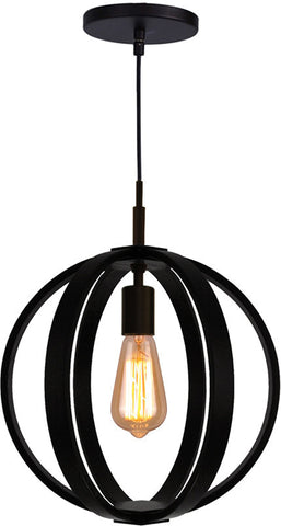 Woodbridge Lighting 16923MEB Celestial 1-light Wood Mid-Pendant - PeazzLighting