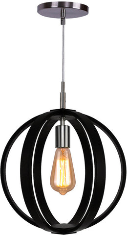 Woodbridge Lighting 16923STN Celestial 1-light Wood Mid-Pendant - PeazzLighting