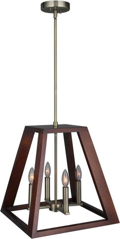 Woodbridge Lighting 17220CBR-WLK3WN Walden Wood Pendant