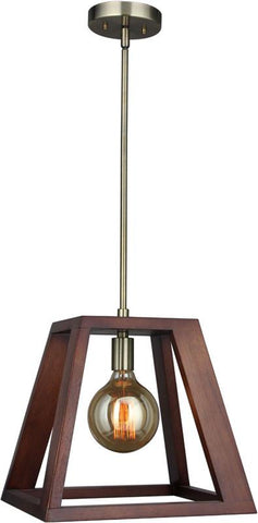 Woodbridge Lighting 17223CBR-WLK2WN Walden Wood Mid-pendant