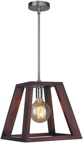 Woodbridge Lighting 17223STN-WLK2WN Walden Wood Mid-pendant