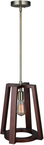 Woodbridge Lighting 17226CBR-WLL1WN Bella Wood Mid-pendant