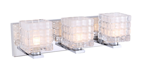 Woodbridge Lighting 17353CHR-C80415 Claudia 3-light Bath