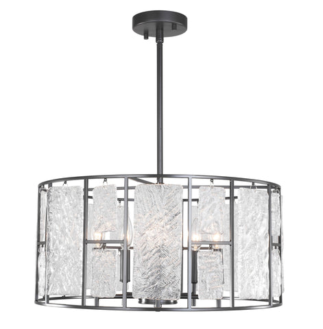 Woodbridge Lighting 18115BRZ Jasmine 5-Light Dining Pendant