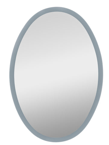"Woodbridge Lighting 18243-MR Reflections 22"" x 30"" Oval LED Back Light Mirror, Frosted Acrylic Frame"