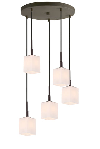 Woodbridge Lighting 18425BRZ-C80401 Langston 5-light Cluster Pendant