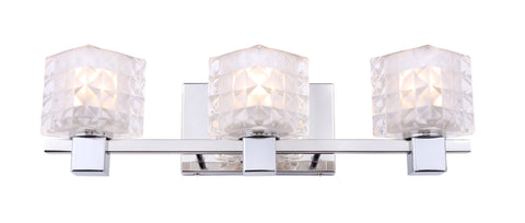 Woodbridge Lighting 18453CHR-C80410 Langston 3-light Bath