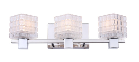 Woodbridge Lighting 18453CHR-C80415 Langston 3-light Bath
