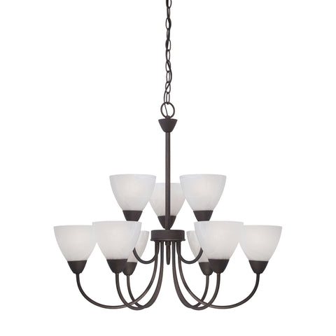 Thomas Lighting 190036763 Tia Collection Painted Bronze Finish Transitional Chandelier