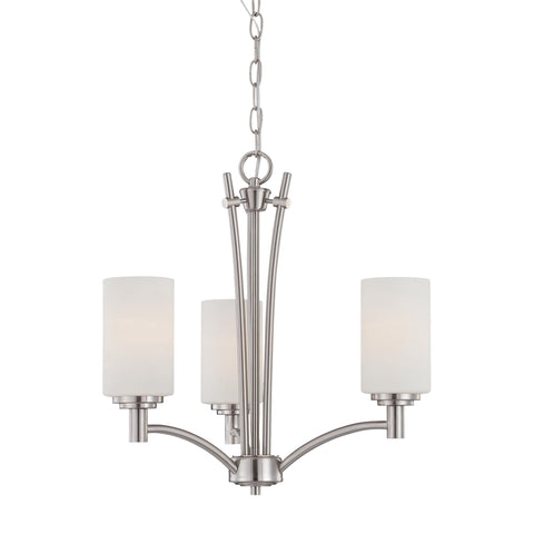 Thomas Lighting 190040217 Pittman Collection Brushed Nickel Finish Transitional Chandelier