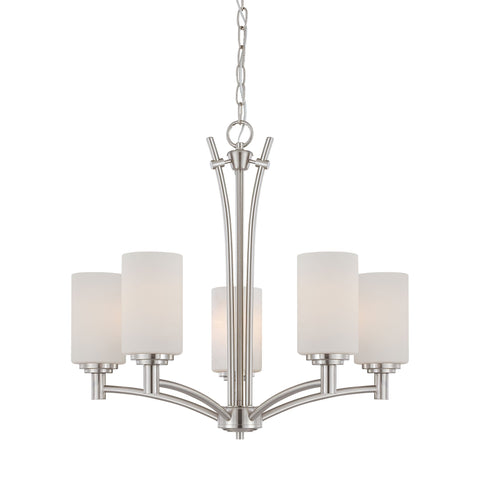 Thomas Lighting 190041217 Pittman Collection Brushed Nickel Finish Transitional Chandelier