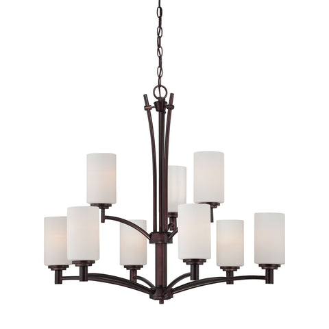 Thomas Lighting 190042719 Pittman Collection Sienna Bronze Finish Transitional Chandelier