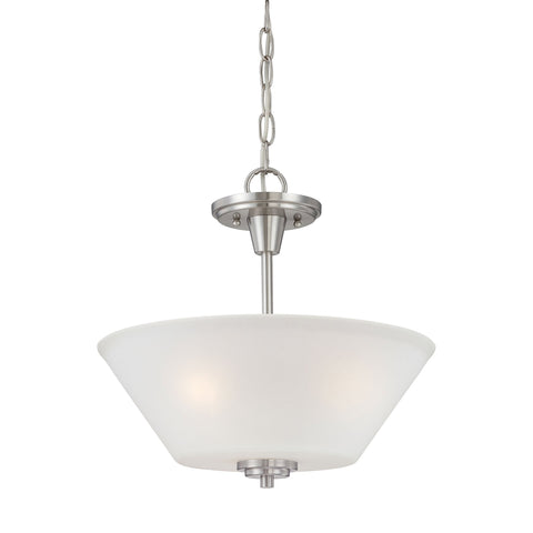 Thomas Lighting 190043217 Pittman Collection Brushed Nickel Finish Transitional Pendant