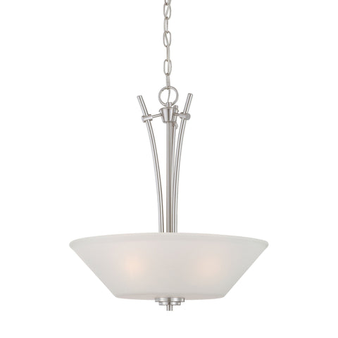 Thomas Lighting 190061217 Pittman Collection Brushed Nickel Finish Transitional Pendant