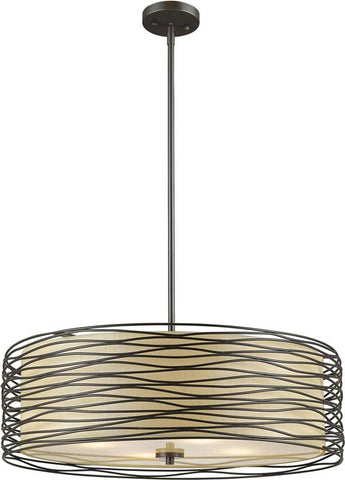 Z-Lite 2009-24BRZ 4 Light Pendant Zinnia Collection Creme Finish - ZLiteStore