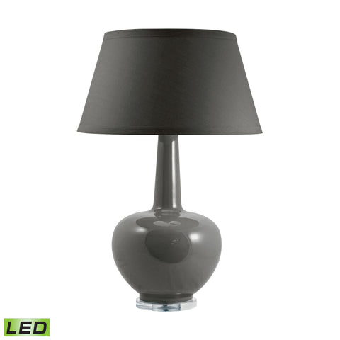 Lamp Works LAM-204T-LED Porcelain Collection Taupe Finish Table Lamp
