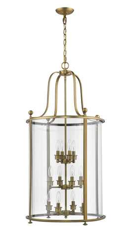 Z-Lite 205-12HB Wyndham Collection 12 Light Chandelier Heirloom Brass Finish