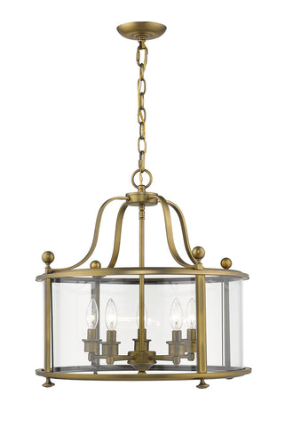 Z-Lite 205-5HB Wyndham Collection 5 Light Chandelier Heirloom Brass Finish