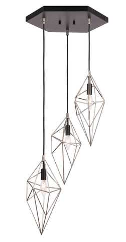 Woodbridge Lighting 20724STB Lanning 3-light Cluster Pendant