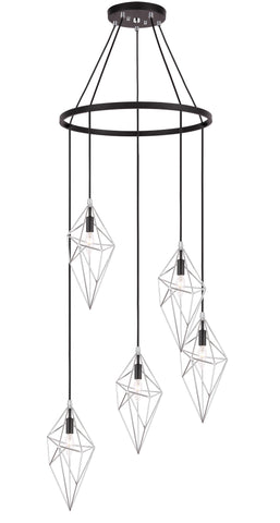 Woodbridge Lighting 20728CHB-DBZ Lanning 5-light Pendant Chandelier