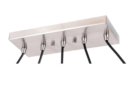 Woodbridge Lighting 20729STB-STN Lanning 5-light Linear Pendant