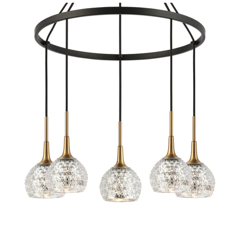 Woodbridge Lighting 20828CBZ-C00514 Bristol 5-light Pendant Chandelier