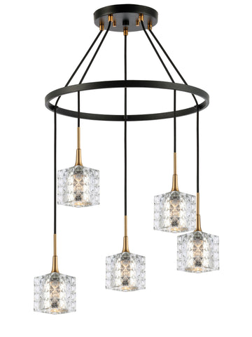 Woodbridge Lighting 20828CBZ-C80414 Bristol 5-light Pendant Chandelier