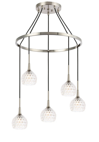 Woodbridge Lighting 20828STN-C00510 Bristol 5-light Pendant Chandelier
