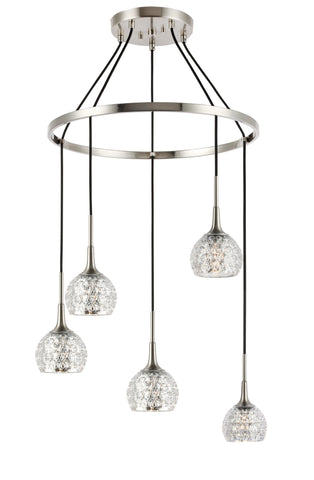 Woodbridge Lighting 20828STN-C00514 Bristol 5-light Pendant Chandelier