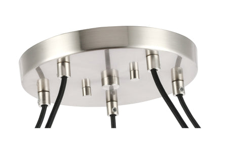 Woodbridge Lighting 20828STN-C80414 Bristol 5-light Pendant Chandelier