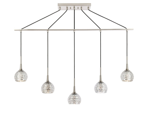 Woodbridge Lighting 20829STN-C00514 Bristol 5-light Linear Pendant