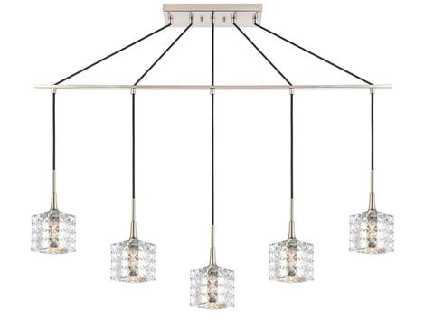 Woodbridge Lighting 20829STN-C80414 Bristol 5-light Linear Pendant